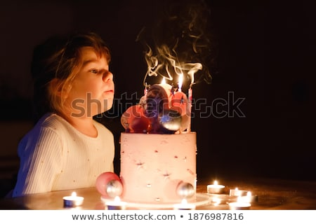 Stock fotó: Kaukázusi · fiú · ünnepel · negyedik · születésnap · áll