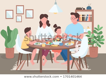 Poster design with morning routine for kids Stock photo © bluering