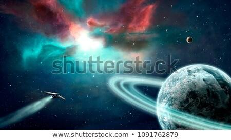 スペース シーン 衛星 青 惑星 実例 ストックフォト © bluering