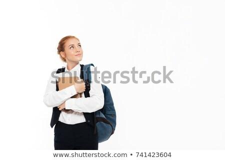 沈痛 学生 女性 リュックサック ストックフォト © deandrobot