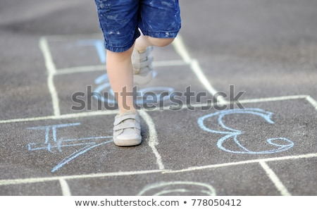 Stock photo: Childrens legs