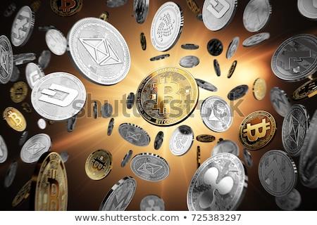 Photo stock: Bitcoin · pièce · technologie · monnaie · image · mise · au · point · sélective