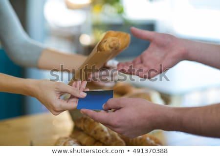 vrouw · permanente · counter · restaurant · klant - stockfoto © wavebreak_media