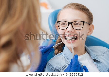 Smiley Dental Work Braces Smile Stock photo © lenm