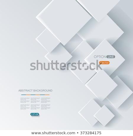 Absztrakt mértani kockák valósághű kék üzlet Stock fotó © SwillSkill