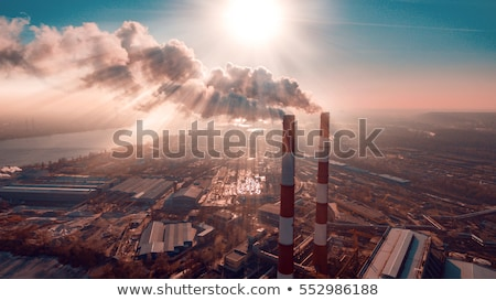 Fumes coming out of a factory chimney Stock photo © IS2