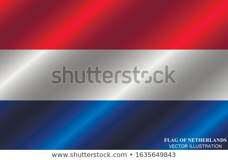 netherlands economics vector illustration with holland flag and business chart bar chart stock numb stock photo © m_pavlov
