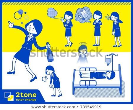 Type pak business 10 kantoor vrouwen Stockfoto © toyotoyo