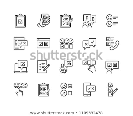 Сток-фото: клиентов · выбора · линия · икона · клиент · удовлетворение