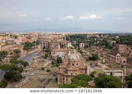 Fórum escada templo romano Itália cidade Foto stock © Givaga