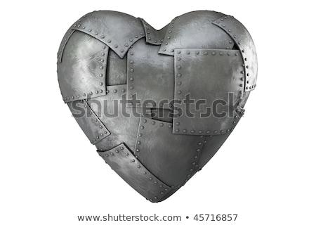 Metal dimensional hearts 3D Stock photo © djmilic