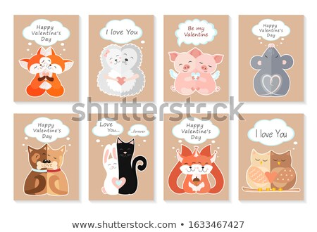 cartoon · Fox · amour · illustration · heureux - photo stock © cthoman