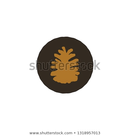 Pine cone patch. Simple nature shape. Retro distressed design. Stock vector isolated on white backgr Stock photo © JeksonGraphics