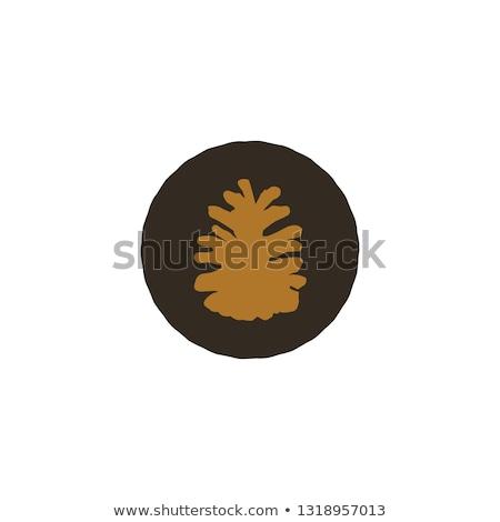grand · arbre · silhouette · feuille · art · usine - photo stock © jeksongraphics
