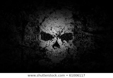 grunge · koponya · sötét · viharvert · ki · tenger - stock fotó © swatchandsoda