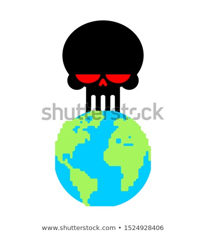 Aarde dood schedel planeet einde wereld Stockfoto © MaryValery