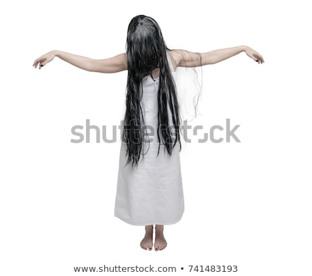 a female zombie on white background stock photo © bluering