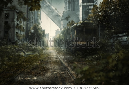 Creepy zombie in scene Stock photo © bluering