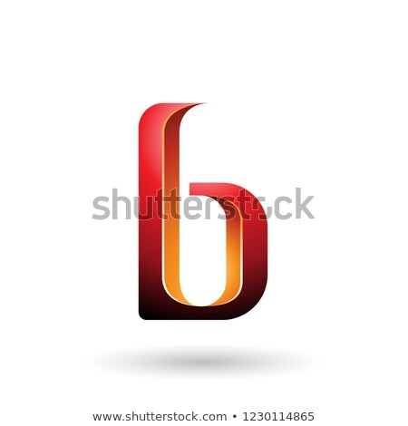 Orange and Red Shaded Letter B Vector Illustration Stock photo © cidepix