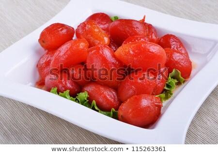 Inteiro descascado ameixa tomates romani tipo Foto stock © maxsol7