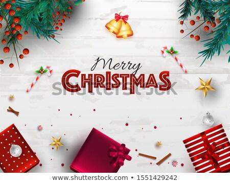 25 · aralık · Noel · takvim · gün · tebrik · kartı - stok fotoğraf © Olena