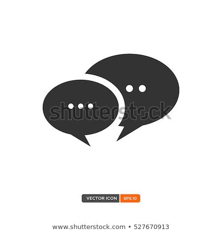 Dwa sposób chat podpisania symbol ikona Zdjęcia stock © vector1st