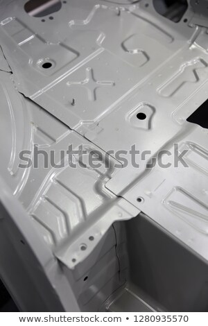 Sheet metal truck body in the factory Stock photo © boggy