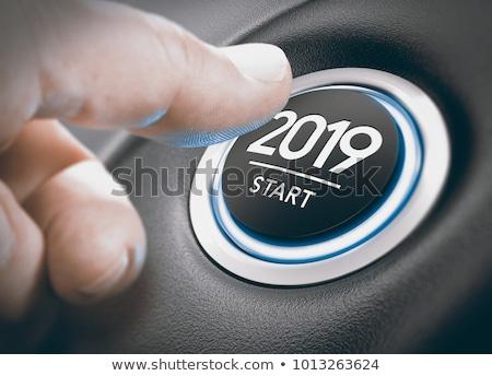 Knop witte kubus tabel nieuwjaar Stockfoto © Oakozhan