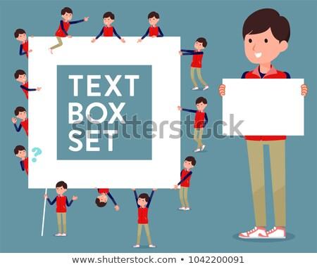 Type store personeel Rood uniform vak Stockfoto © toyotoyo