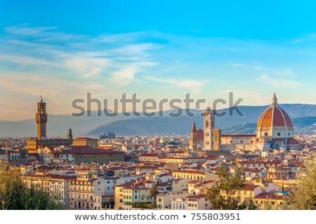 Légi panoráma Florence Toszkána Olaszország ház Stock fotó © benkrut