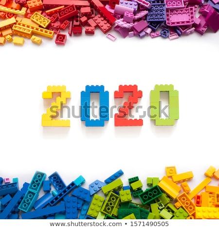 Witte verandering tabel nieuwe jaar Stockfoto © Oakozhan