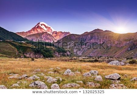 Mountain landscape with beautiful sunlight, Georgia, Caucasus Stock photo © Kotenko