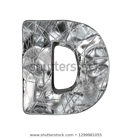 grunge · alumínio · fonte · letra · d · 3D · 3d · render - foto stock © djmilic