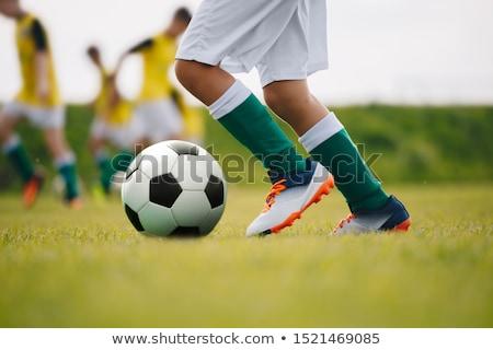detail · voetbal · benen · voeten · voetbal - stockfoto © matimix