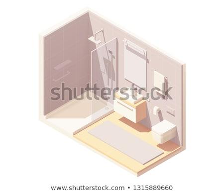 Vector isometric small bathroom interior Stock photo © tele52