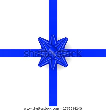 Realista azul arco horizontal cinta aislado Foto stock © olehsvetiukha