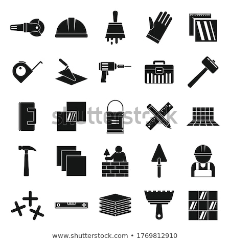 Building, construction and home repair tools icons Stock photo © nosik