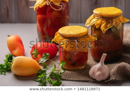 Homemade pickled bell pepper in jar Stock photo © furmanphoto