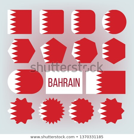 Bahrain National Colors, Insignia Vector Icons Set Foto stock © pikepicture
