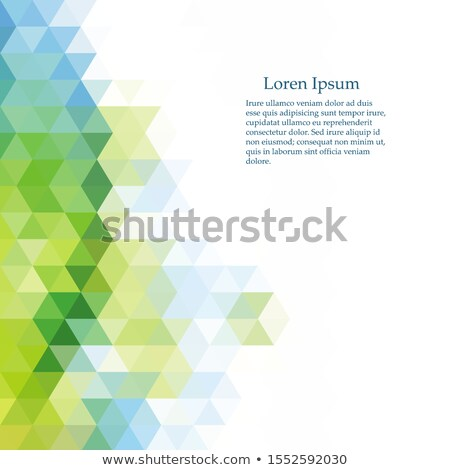 Green Gradient Low poly Triangular Geometric Polygonal Squareblur glass Abstract Vector Background Stock photo © kyryloff