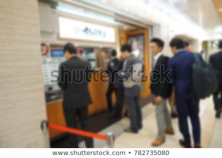 Tani pociągu bilety człowiek czeka stacja kolejowa Zdjęcia stock © Genestro
