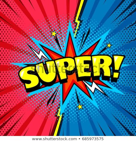 Set of super hero Stock photo © bluering