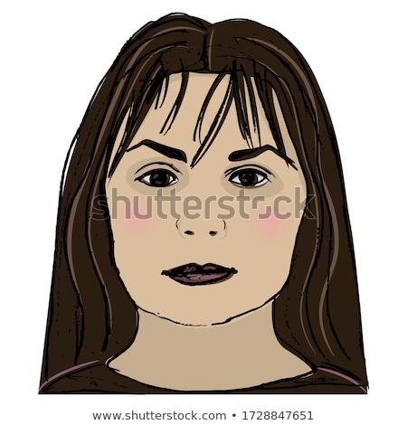 Illustration of a cute woman with rough skin outline  Stock photo © Blue_daemon