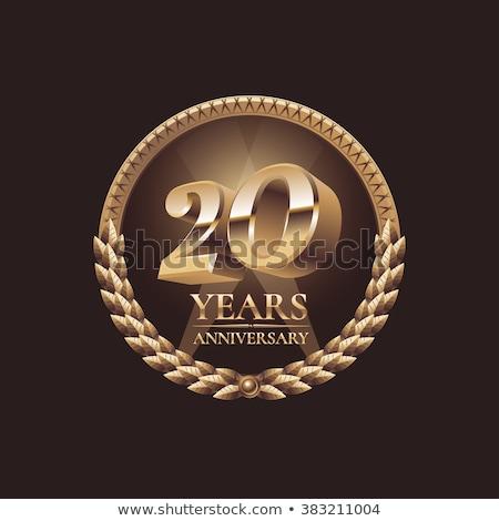 Twentieth Anniversary Celebration Number Vector Stock photo © pikepicture