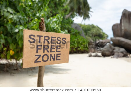 Street Free Zone Sign On The Beach Stock photo © AndreyPopov