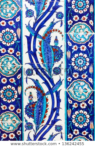 ストックフォト: トルコ語 · セラミック · タイル · イスタンブール · モスク · 花
