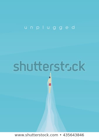 Freestyle Stroke of Swimmer Vector Illustration Stock photo © robuart