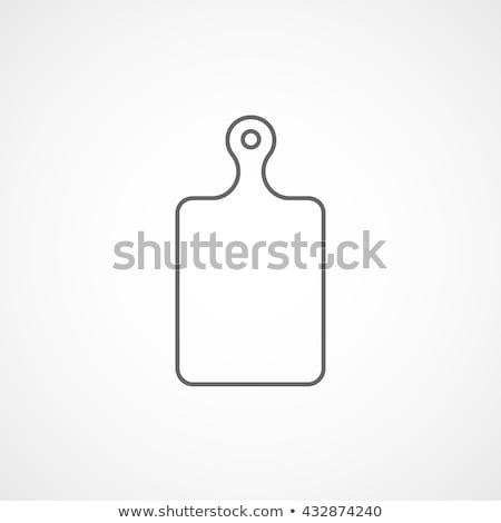 kitchen flat icon cutting board stock photo © netkov1