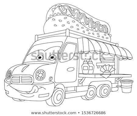 gezonde · sandwich · salade · illustratie · ontwerp · achtergrond - stockfoto © netkov1