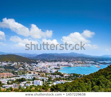 Ibiza Santa Eulalia town beach in Spain Stock photo © lunamarina